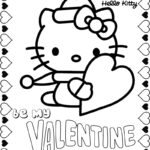 Hello Kitty Valentine Coloring Pages To Print