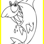 Little Mermaid Coloring Pages Shark
