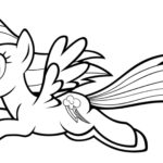 My Little Pony Coloring Sheets Rainbow Dash