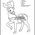 Color By Number Christmas Coloring Book