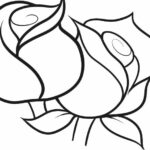 Rose Coloring Pages Easy