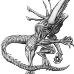 Xenomorph Queen Coloring Pages