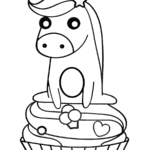 Coloring Pages Printable Cupcake