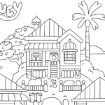 Coloring House Pages