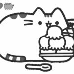 Coloring Pages Printable Pusheen