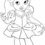 Baby Disney Princess Colouring Pages