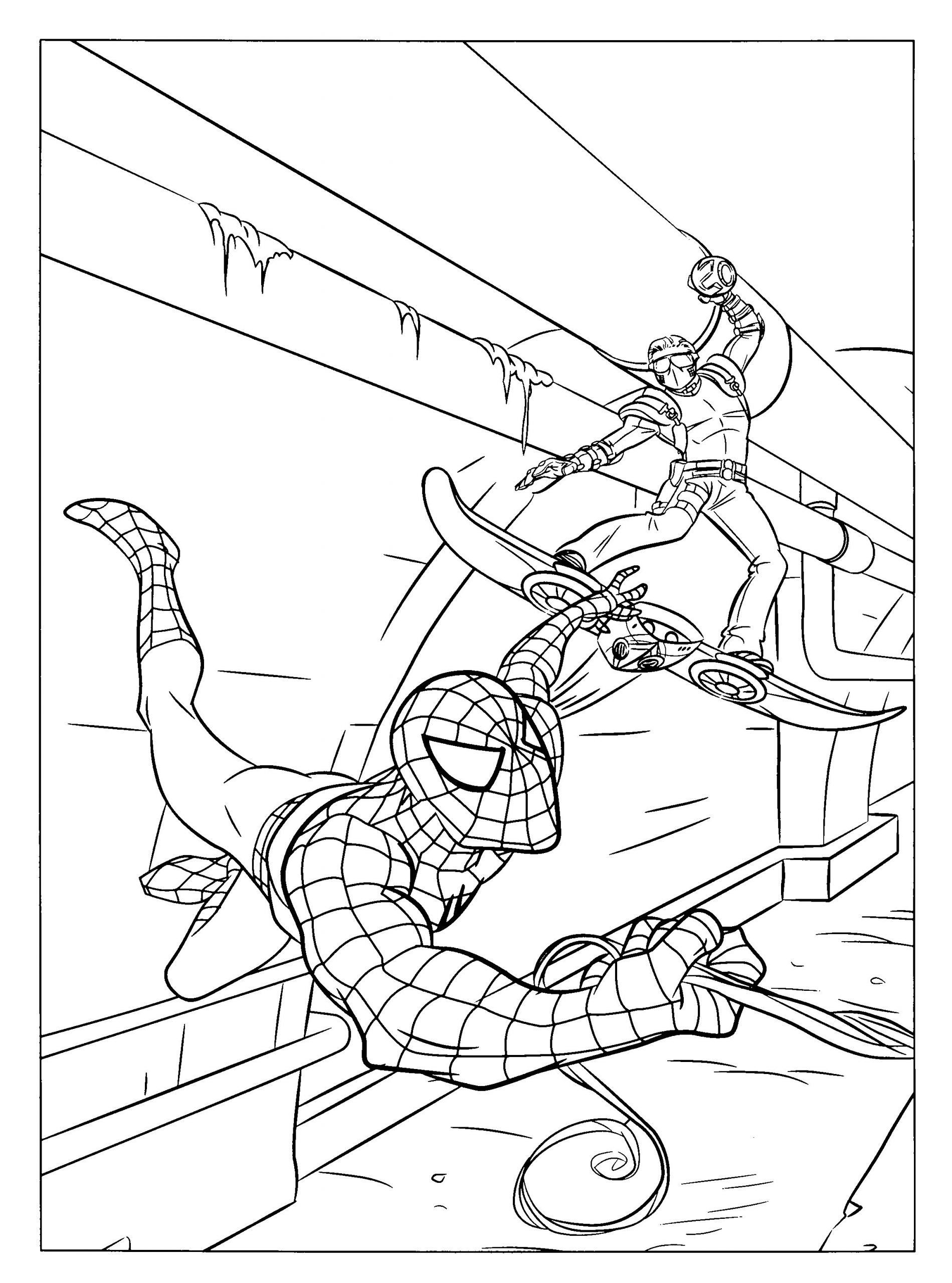 Lego Spiderman Coloring Pages Free Printable Spiderman ...