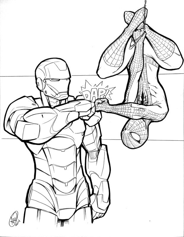 20 best iron man images on Pinterest | Coloring books ...