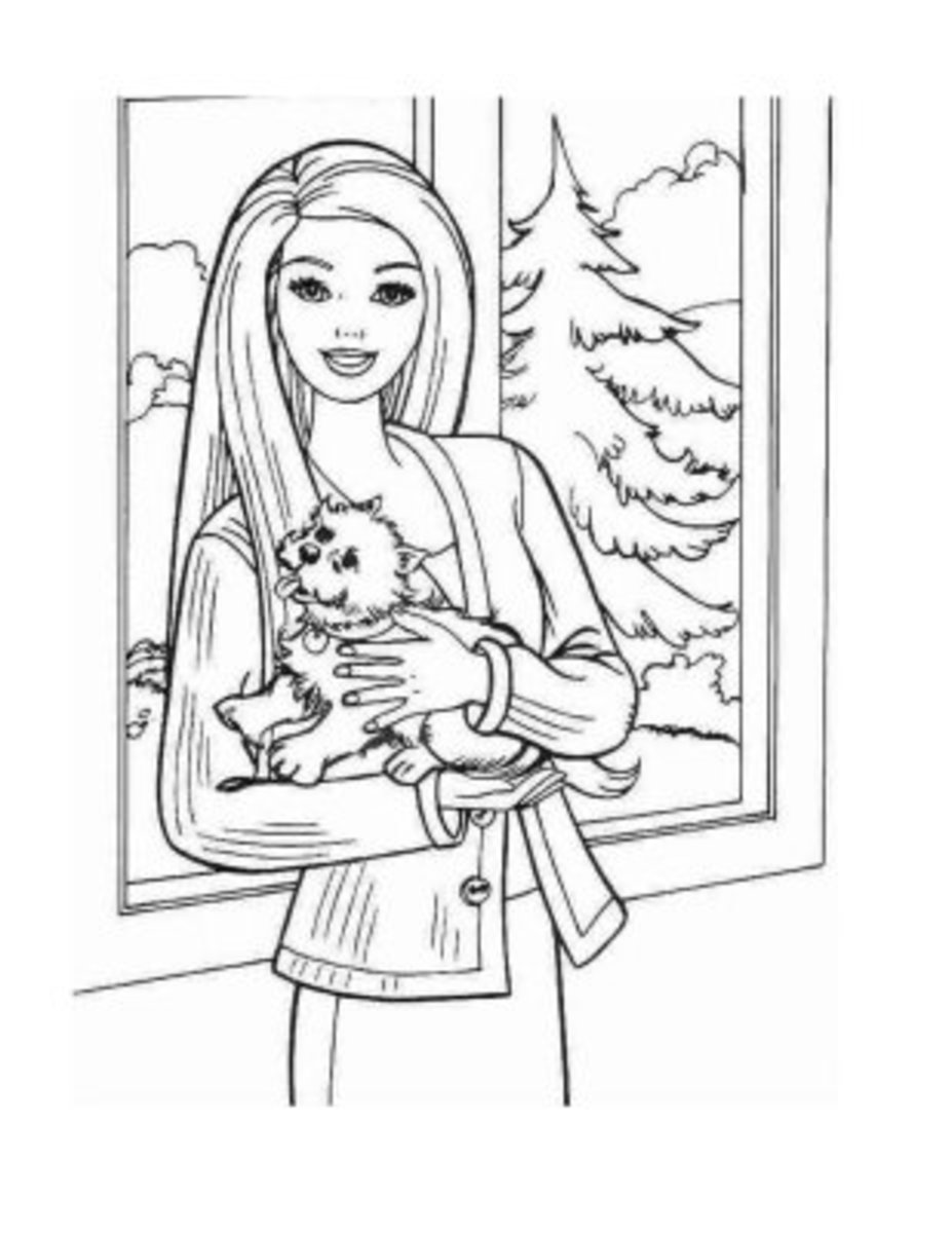Barbie Fashion Coloring-Pages Colouring Pictures to Print ...