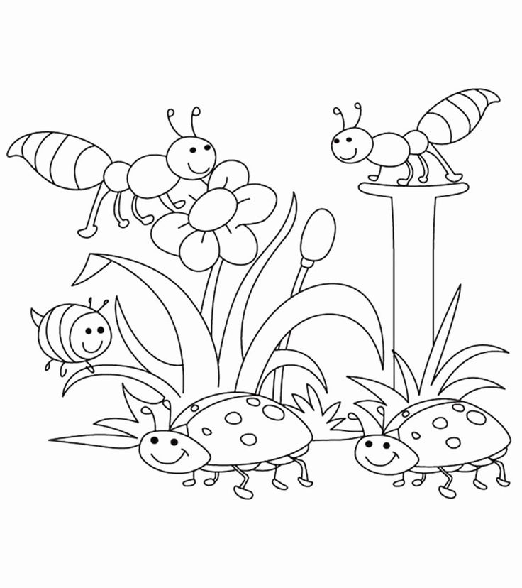 Spring Coloring Pages Free Printable in 2020   Preschool ...