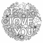 Printable Coloring Pages That Say I Love You