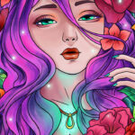 Color By Number Coloring Book Game
