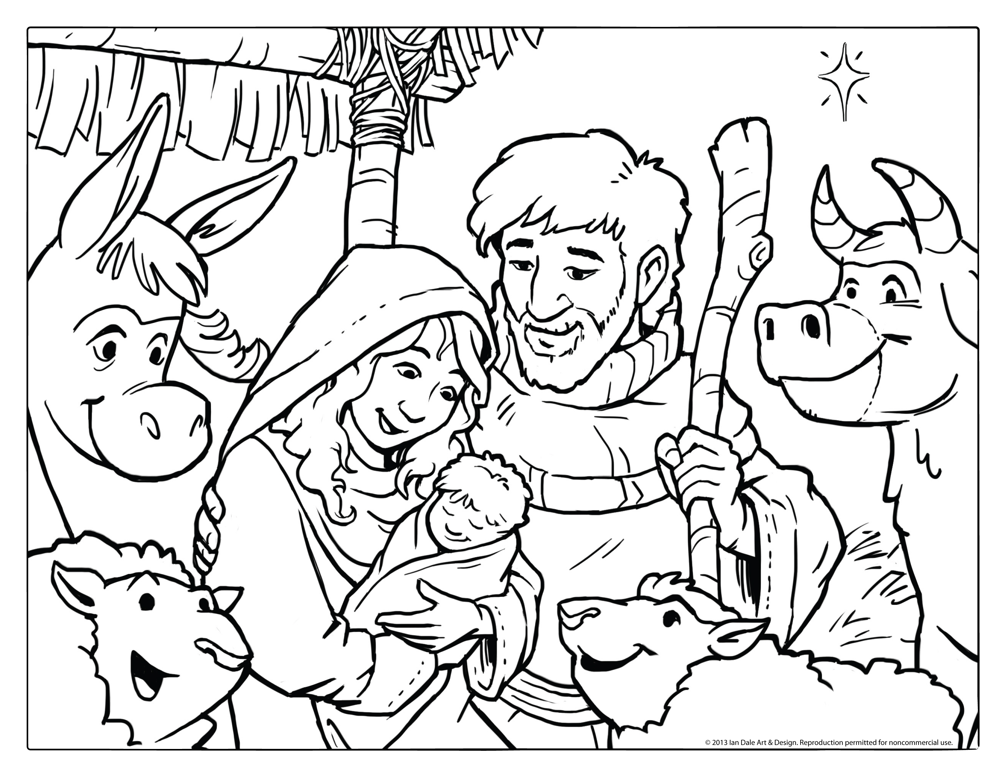 Christmas Coloring Page | Wallpapers9