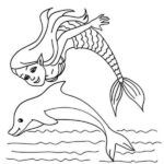 Coloring Pages Of Mermaids And Dolphins