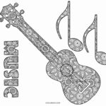 Coloring Music Pages