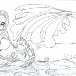 Printable Realistic Mermaid Coloring Pages
