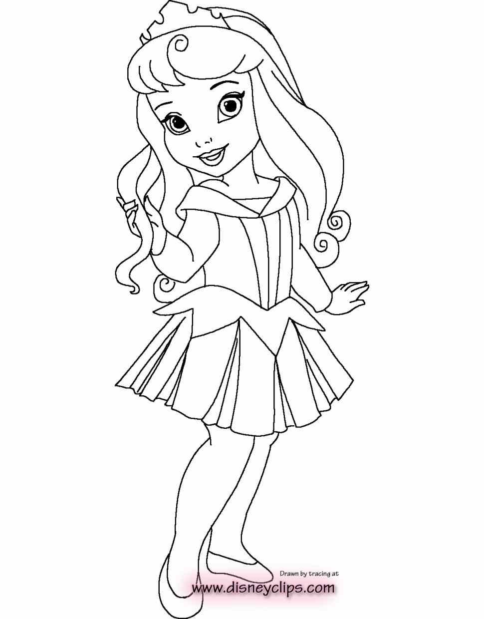 Baby Disney Princess Coloring Pages at GetColorings.com ...