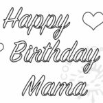 Birthday Coloring Pages For Mom