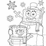 Free Spongebob Christmas Coloring Pages Printables