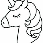 Unicorn Head Printable Coloring Pages