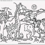 Printable Coloring Pictures Of Zoo Animals