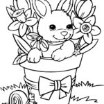 Coloring Pages Bunny Easter