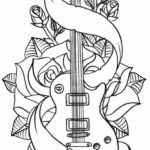 Rock Guitar Coloring Pages