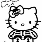 Hello Kitty Zombie Coloring Pages