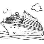 Disney Cruise Ship Coloring Pages