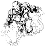 Blue Iron Man Coloring Pages