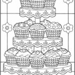 Printable Cupcake Coloring Pages