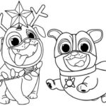 Printable Coloring Pages Of Puppy Dog Pals
