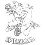 Free Coloring Pages Spider Man Miles