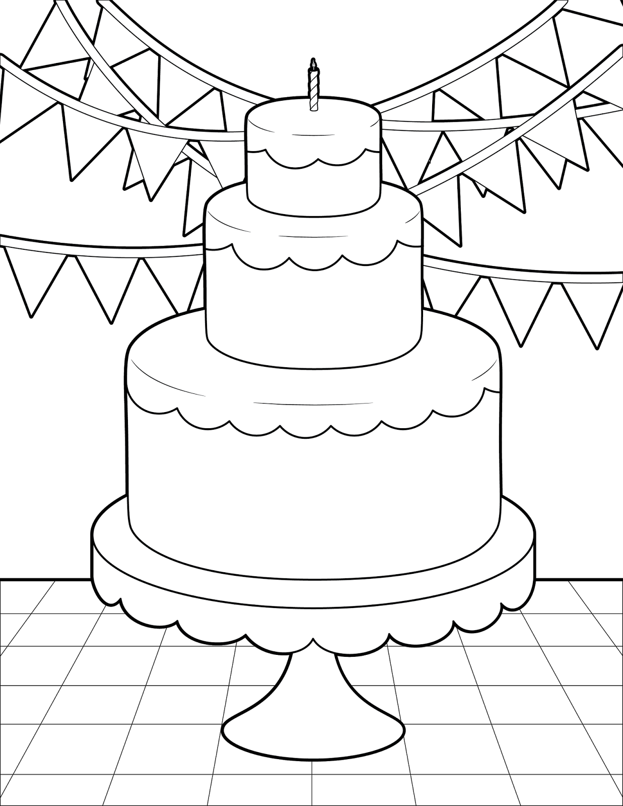 The Spinsterhood Diaries: Thursday Coloring Page: Birthday ...