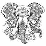 Full Page Printable Elephant Coloring Pages