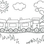 Freight Train Book Coloring Pages