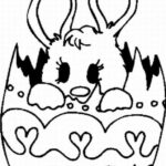 Easter Bunny Coloring Pages Simple
