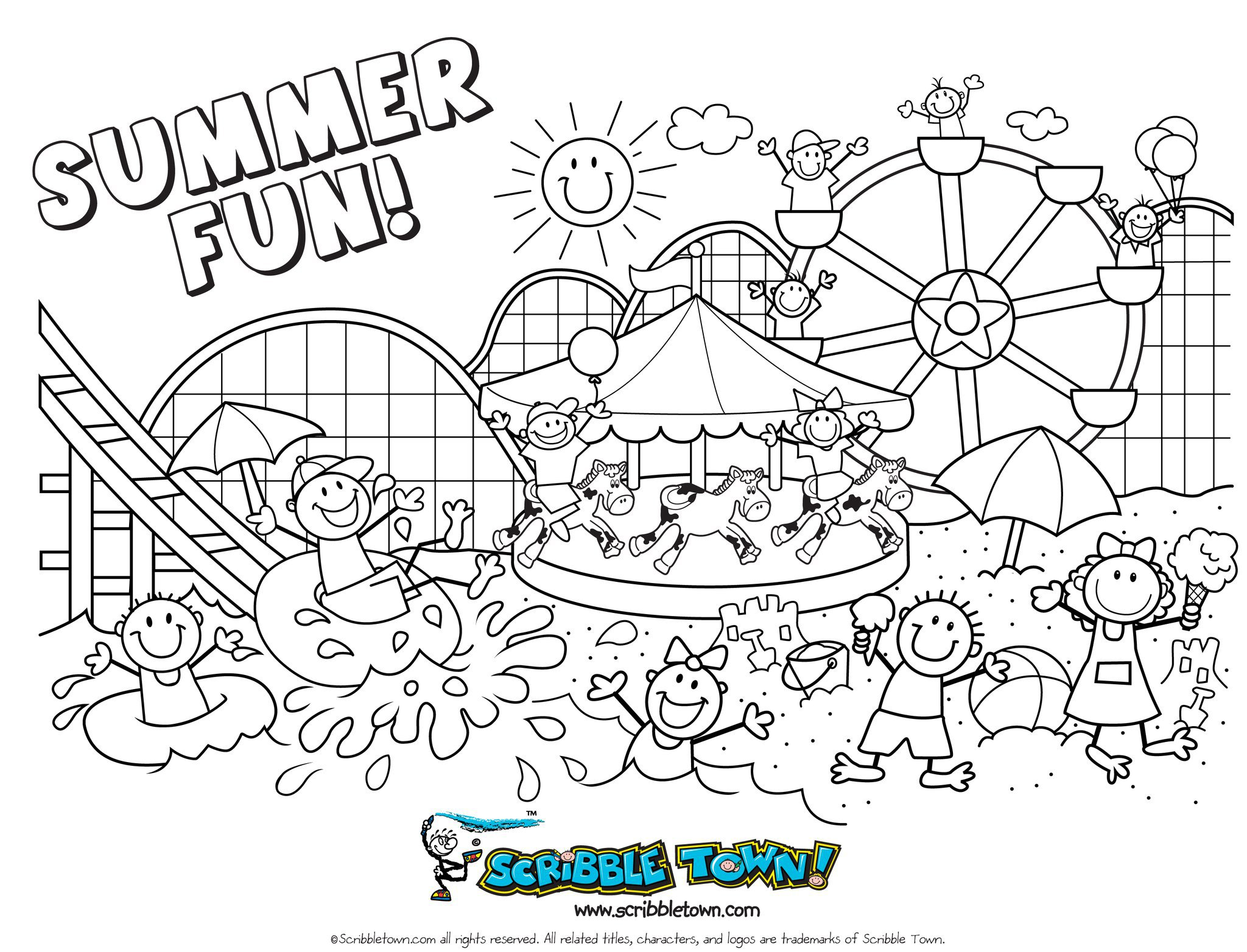 Coloring Pages: Summer Coloring Pages For Preschool Summer ...