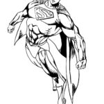 Superman Outline For Coloring