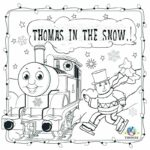 Coloring Page Christmas Train