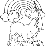 Coloring Pages Of Unicorns And Rainbows