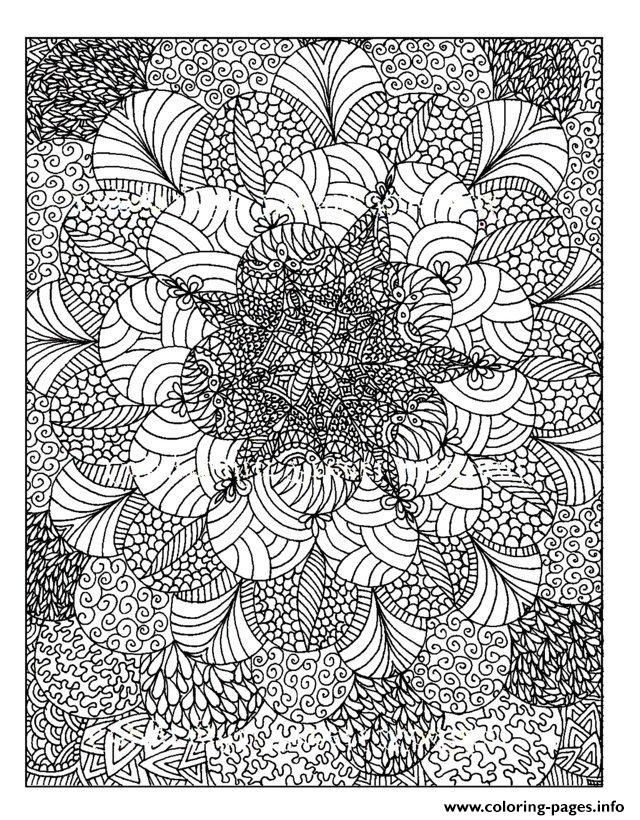 Adult Zen Anti Stress Anti Stress To Print Coloring Pages ...