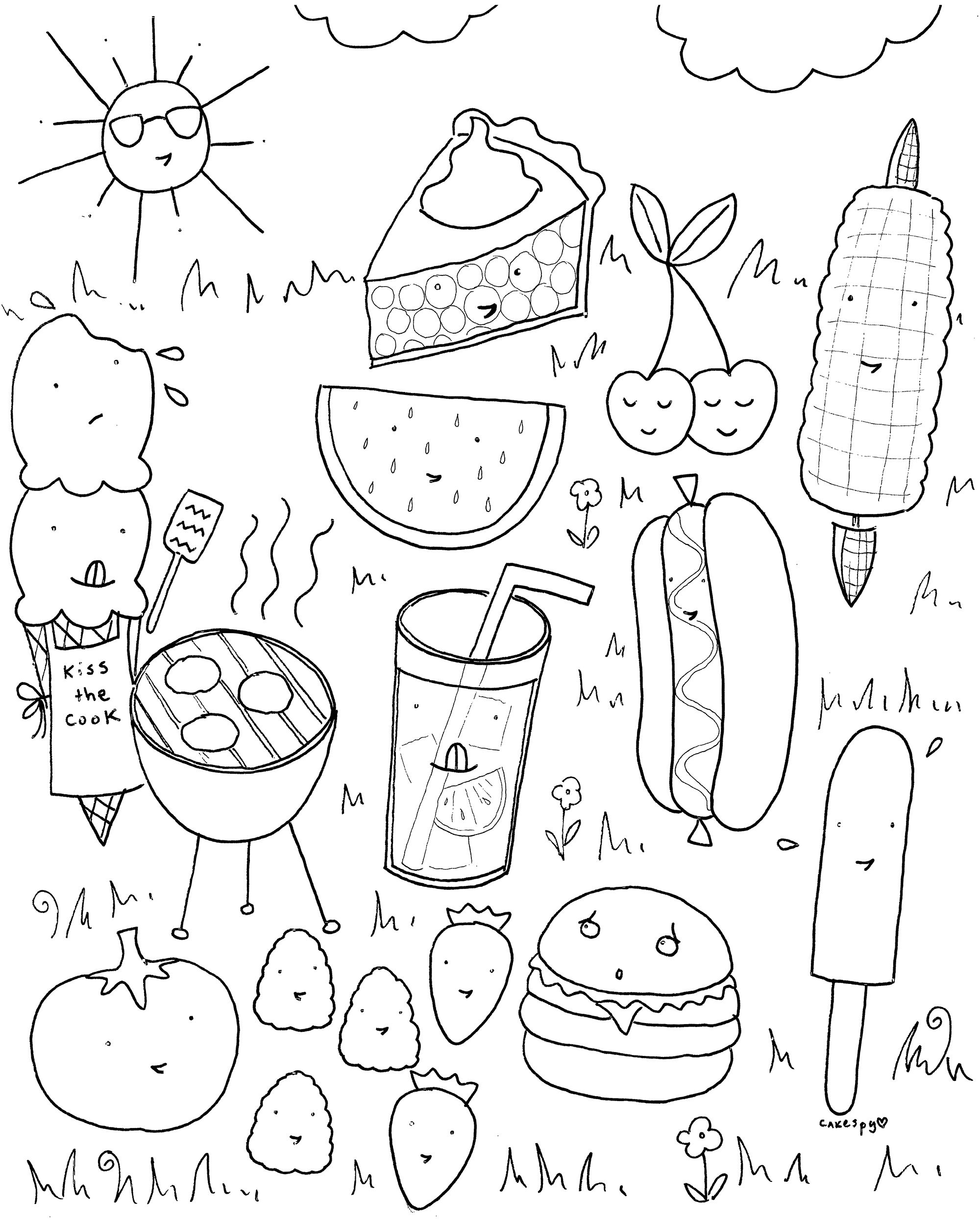 FREE Downloadable Summer Fun Coloring Book Pages | Summer ...
