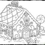 Free Printable Christmas Gingerbread House Coloring Pages