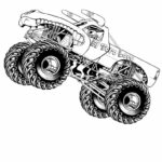 Monster Truck Coloring Pages To Print Out