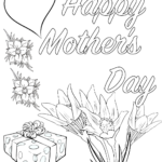 Mothers Day Colouring Pages To Print