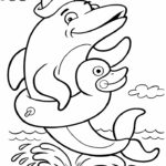 Coloring Pages Dolphins Printable