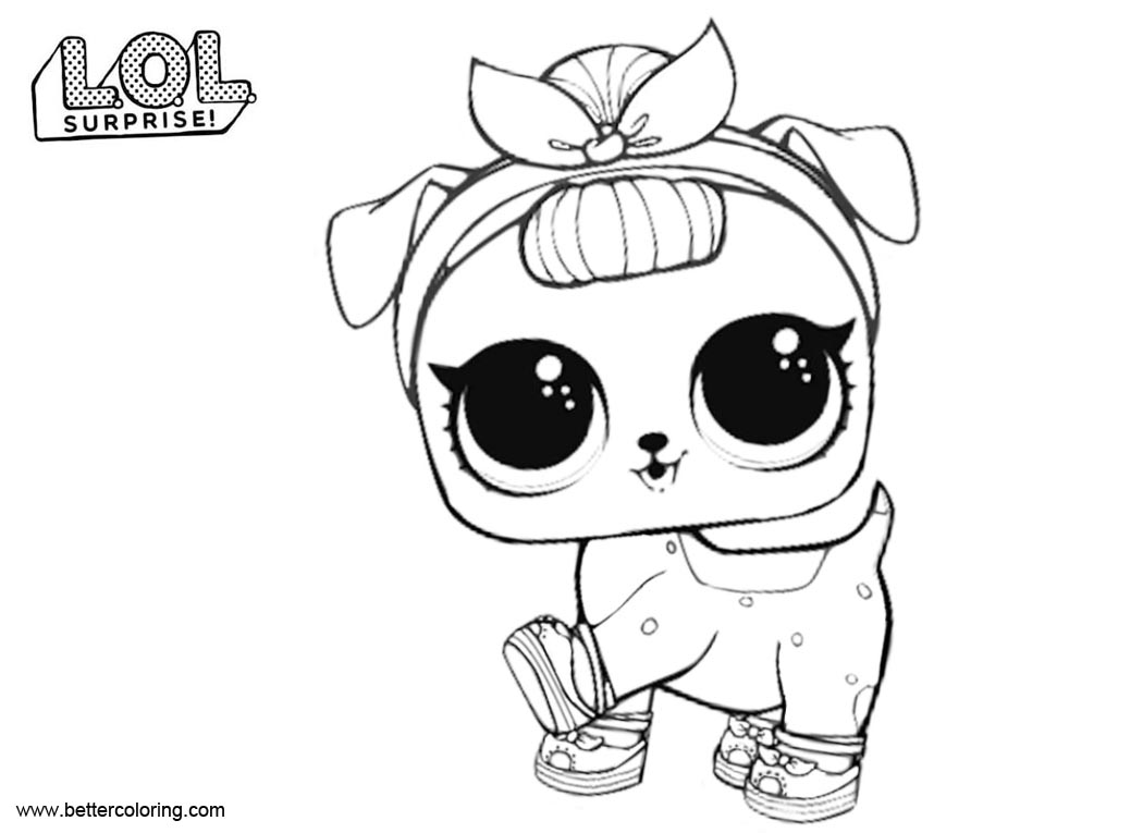 LOL Pets Coloring Pages B B Pup - Free Printable Coloring ...