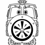 Robot Trains Coloring Pages