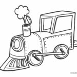 Free Printable Train Coloring Pages For Adults